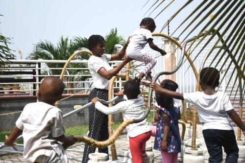 Temitayo Ogunbiyi, You will find playgrounds among palm trees (playdate), 2019. Photography by Temitayo Shonibare.